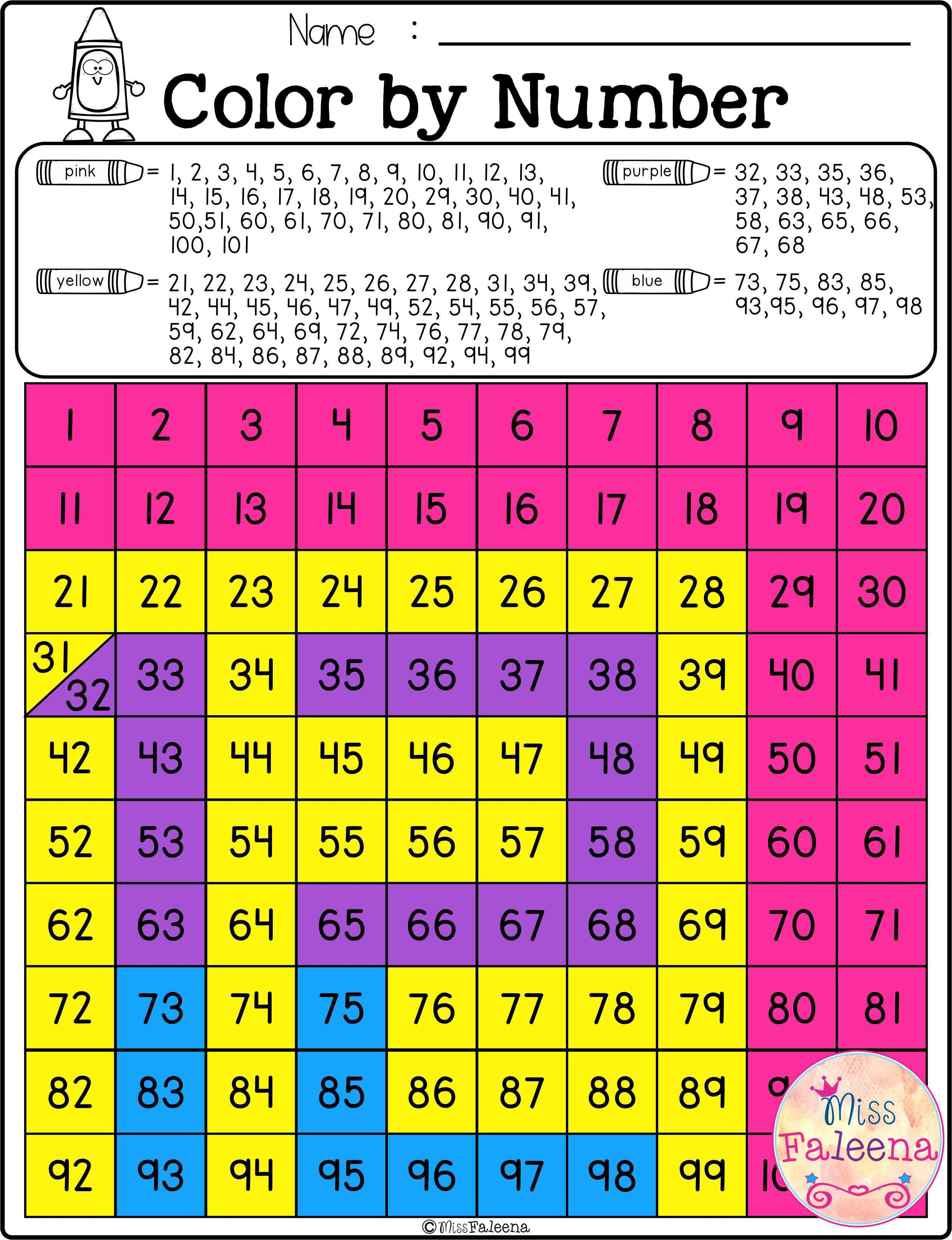 Color By Numbers Hidden Numbers