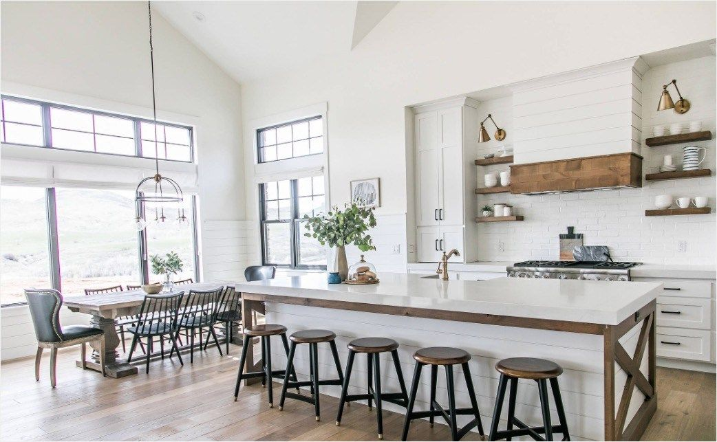40 Perfect Contemporary Farmhouse Interior Ideas Viral Decoration Farmhouse Kitchen Design Modern Farmhouse Dining Farmhouse Interior Design
