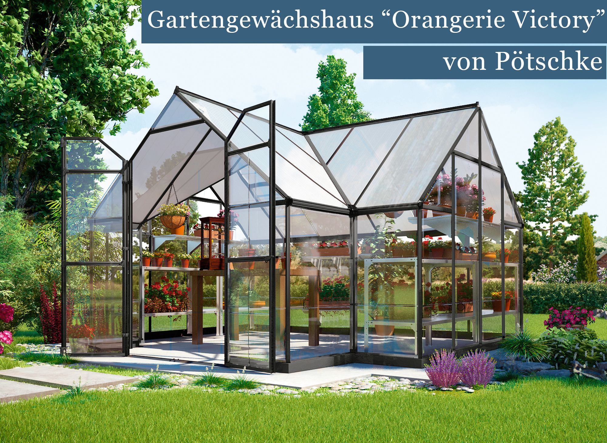 Reprasentatives Gartengewachshaus Orangerie Victory Von