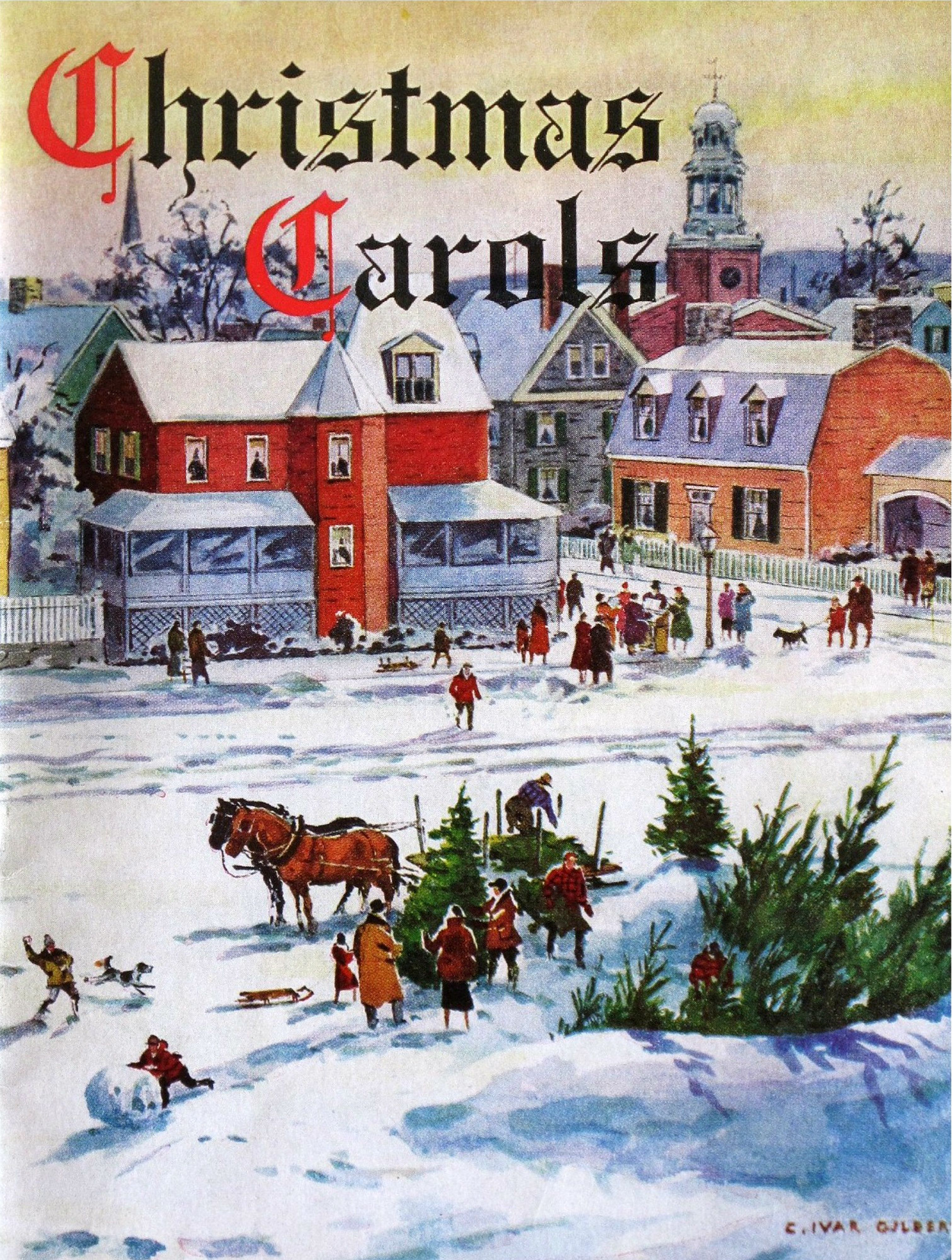 Old fashioned christmas scene christmas chilly strations old fashioned christmas scene kristyandbryce Image collections