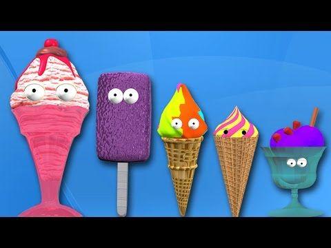 Ice Cream Finger Family Rhymes for Children | 3D Cartoon Nursery Rhymes for Babies - YouTube http://www.youtube.com/watch?v=xDtwwhm5AMA