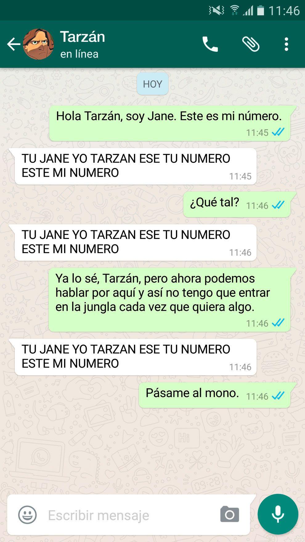"""""""TU JANE YO TARZAN ESTE MI NUMERO""""."""