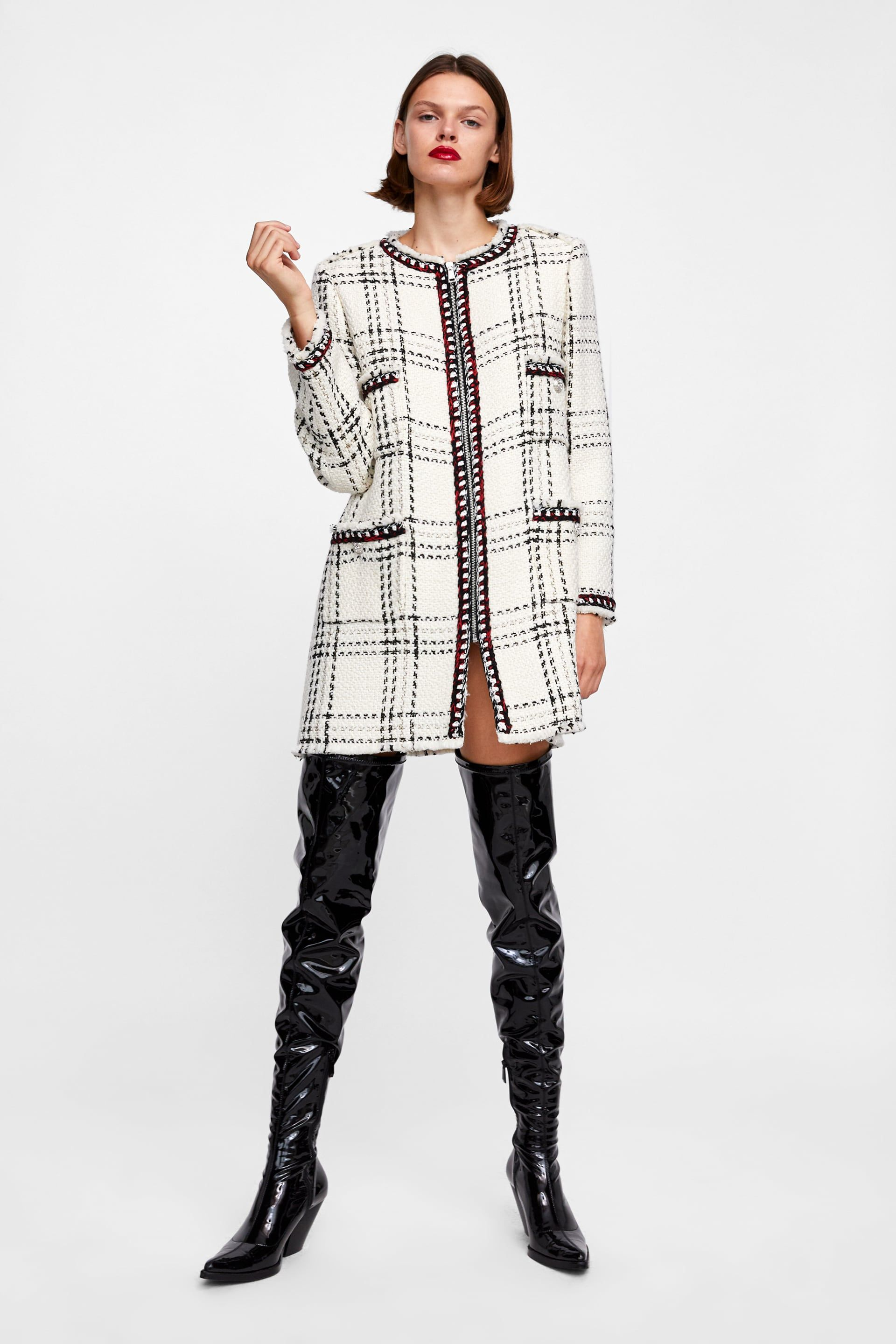 Plaid Woman Zara With Coat Stripes Y5g4w6q