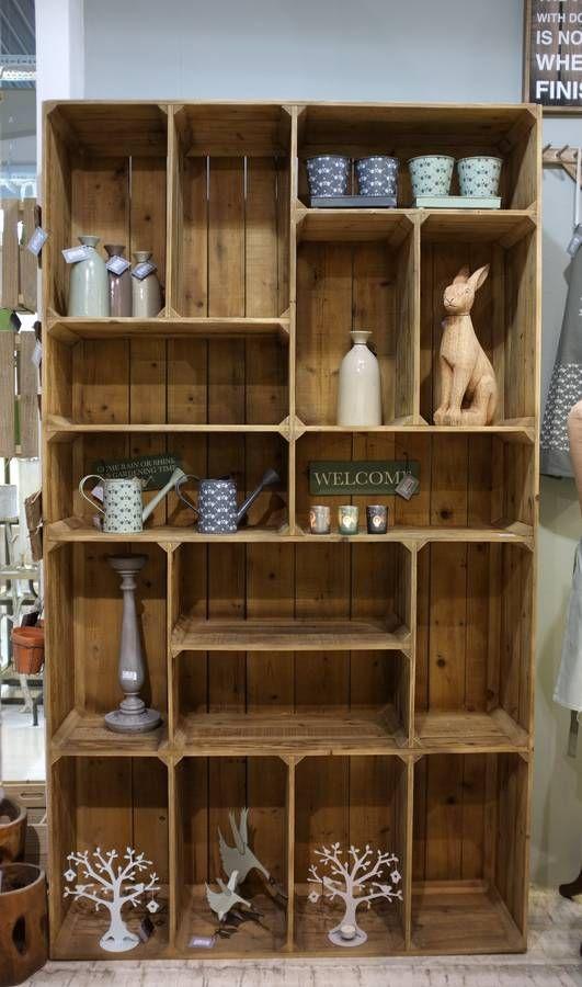 The Pallet Box Shelf Unit Wooden