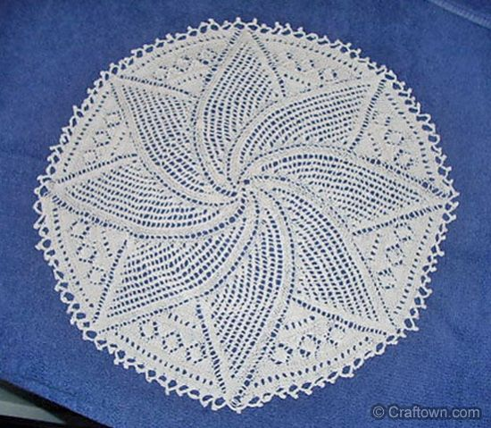 Swirl Leaf Doily Free Knitting Pattern A Pretty Knit Doily From
