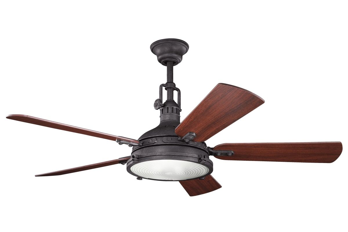 Kichler Hatteras Bay Ceiling Fan Ceiling Fan With Remote Retro