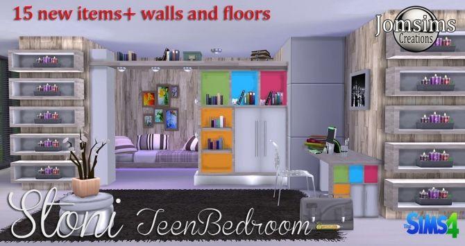 Stoni teenbedroom at Jomsims Creations • Sims 4 Updates