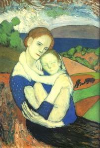 mère et enfant - (Pablo Picasso) | Tableaux de Pablo Picasso ...
