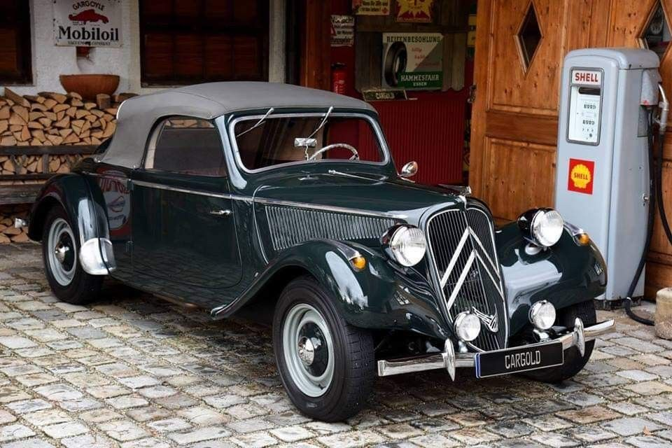 Citroen Traction Avant Cabriolet 1937 Klassieker Auto S Motoren Auto