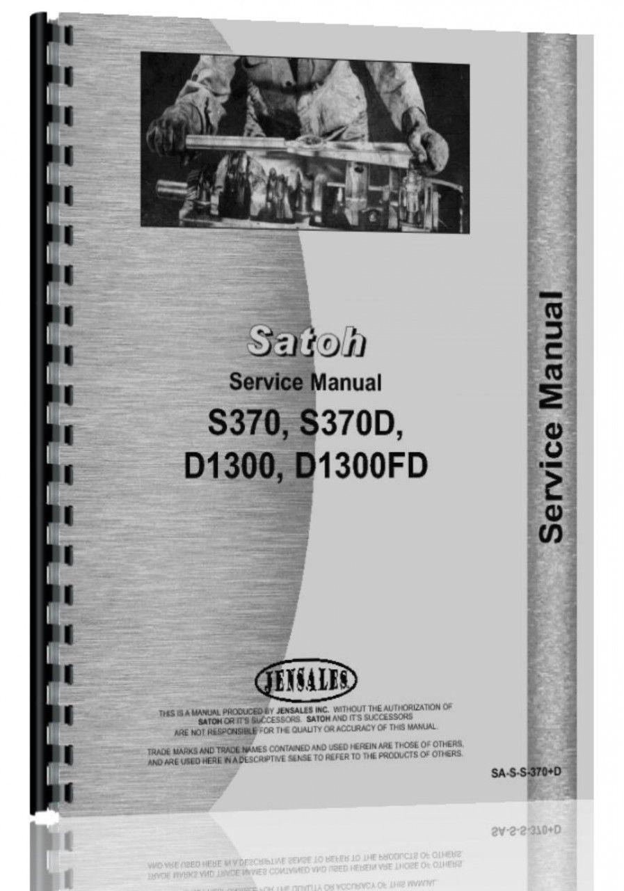 satoh s370 s370d tractor service manual tractors satoh s370 s370d tractor service manual