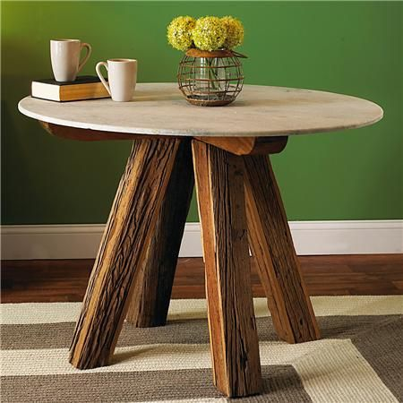 Reclaimed Railroad Ties Bistro Table.   Bet I Know Where I Could Find Some  Of