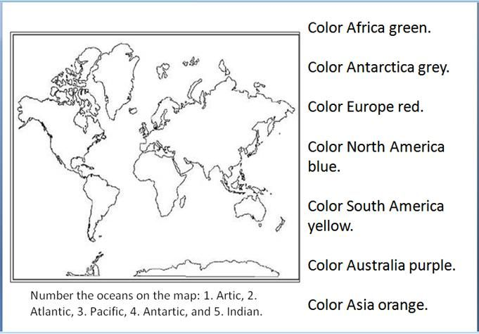 Continents Oceans Continents And Oceans Social Studies