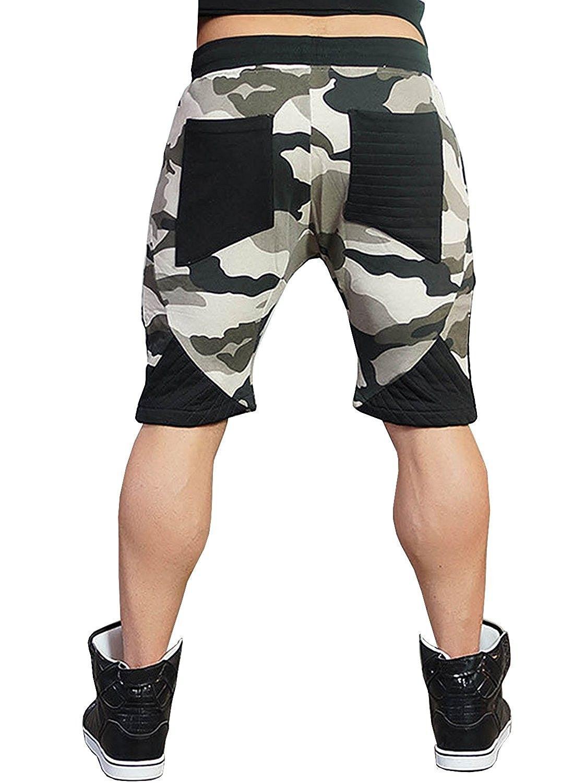 94a682bde6 Men's Clothing, Active, Active Pants, BigRabbit Men's Tapered Gym Workout  Sweat Jogger Shorts