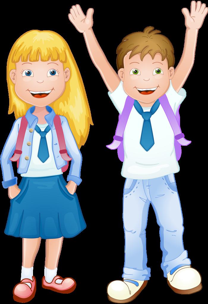 Мальчик и девочка школьники картинки