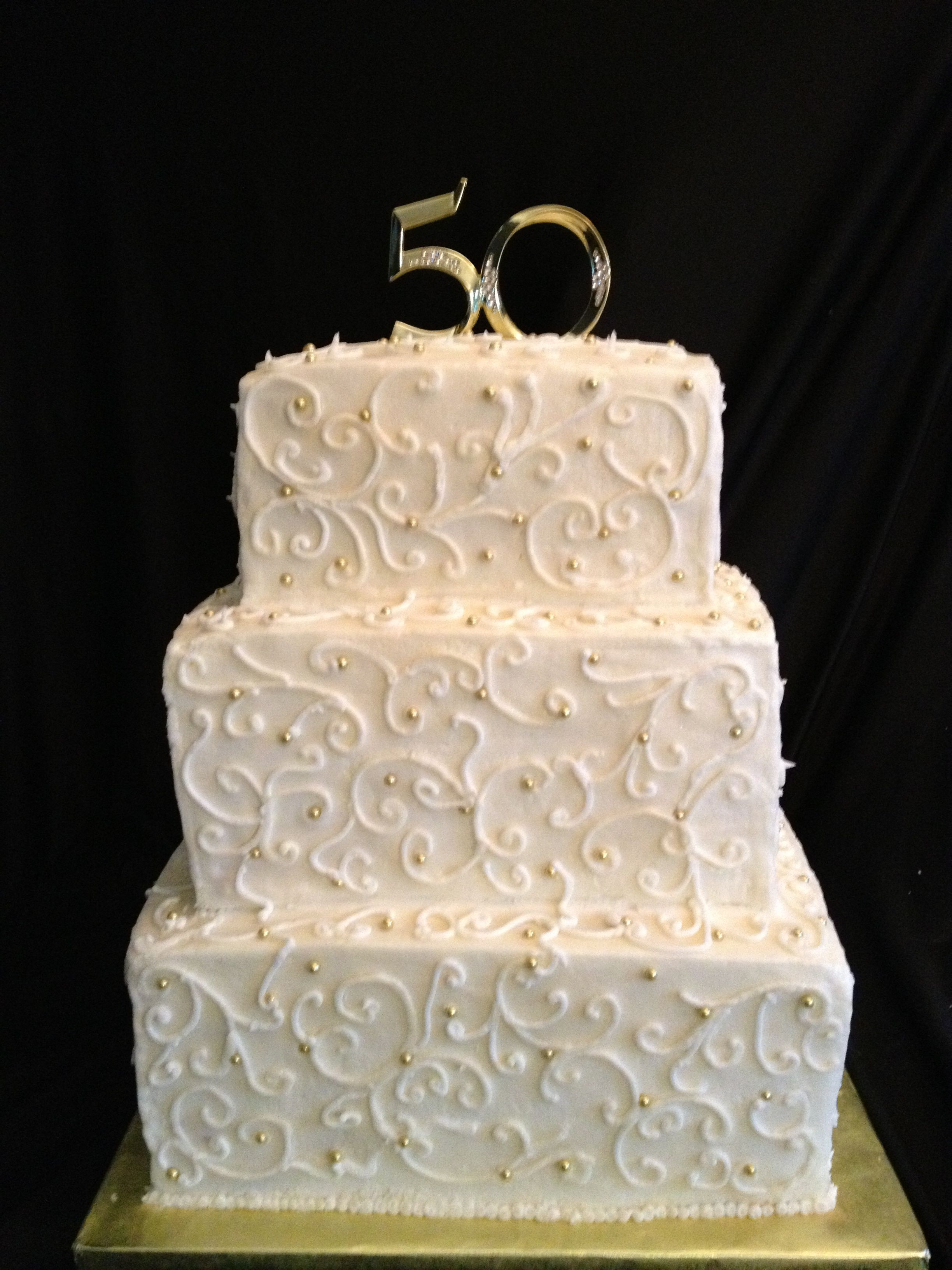 Cute 50th Anniversary Cake Ideas 30588 Ca