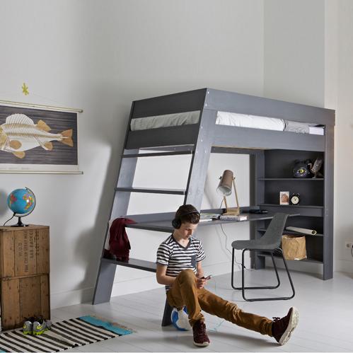 lit-mezzanine-gris - Le blog deco de MLC | inspiration | Pinterest ...