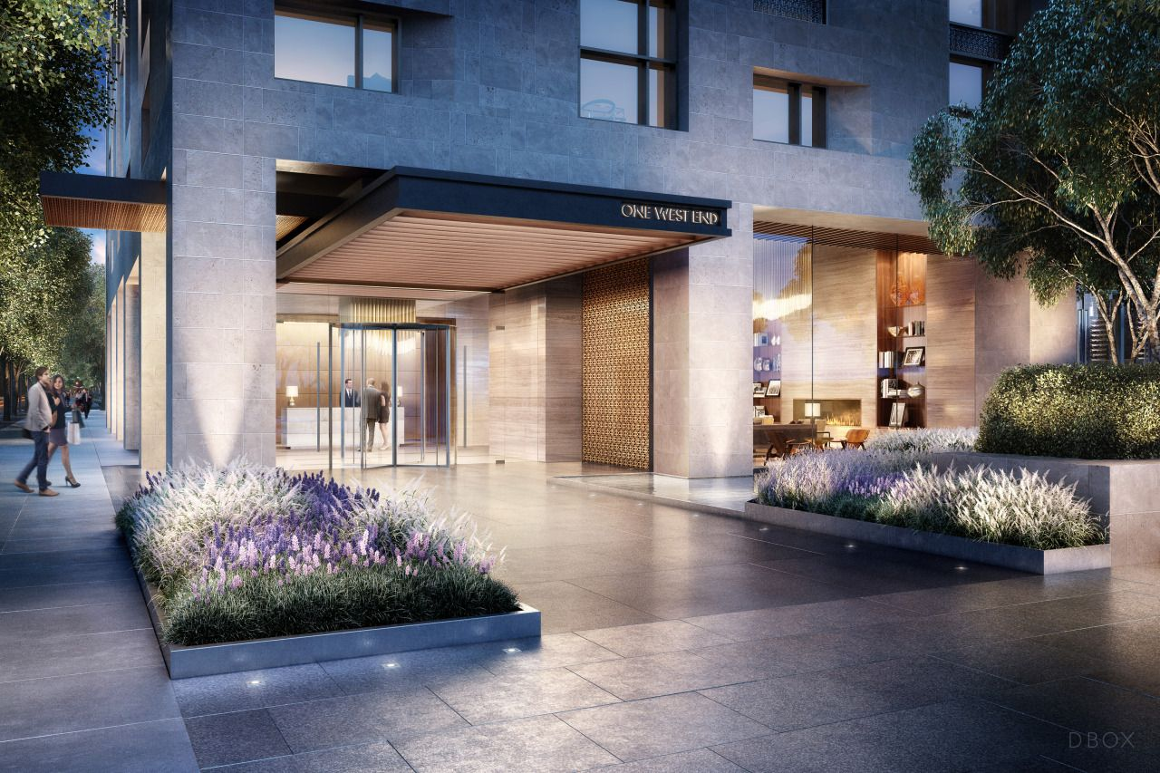 One West End Lobby Entrance Dbox 2015 In 2020 Luxury Condo West End High Rise Building