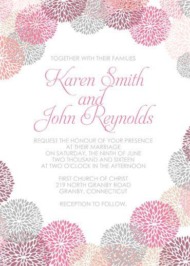 Flower Works Free Wedding Invitation Template Now