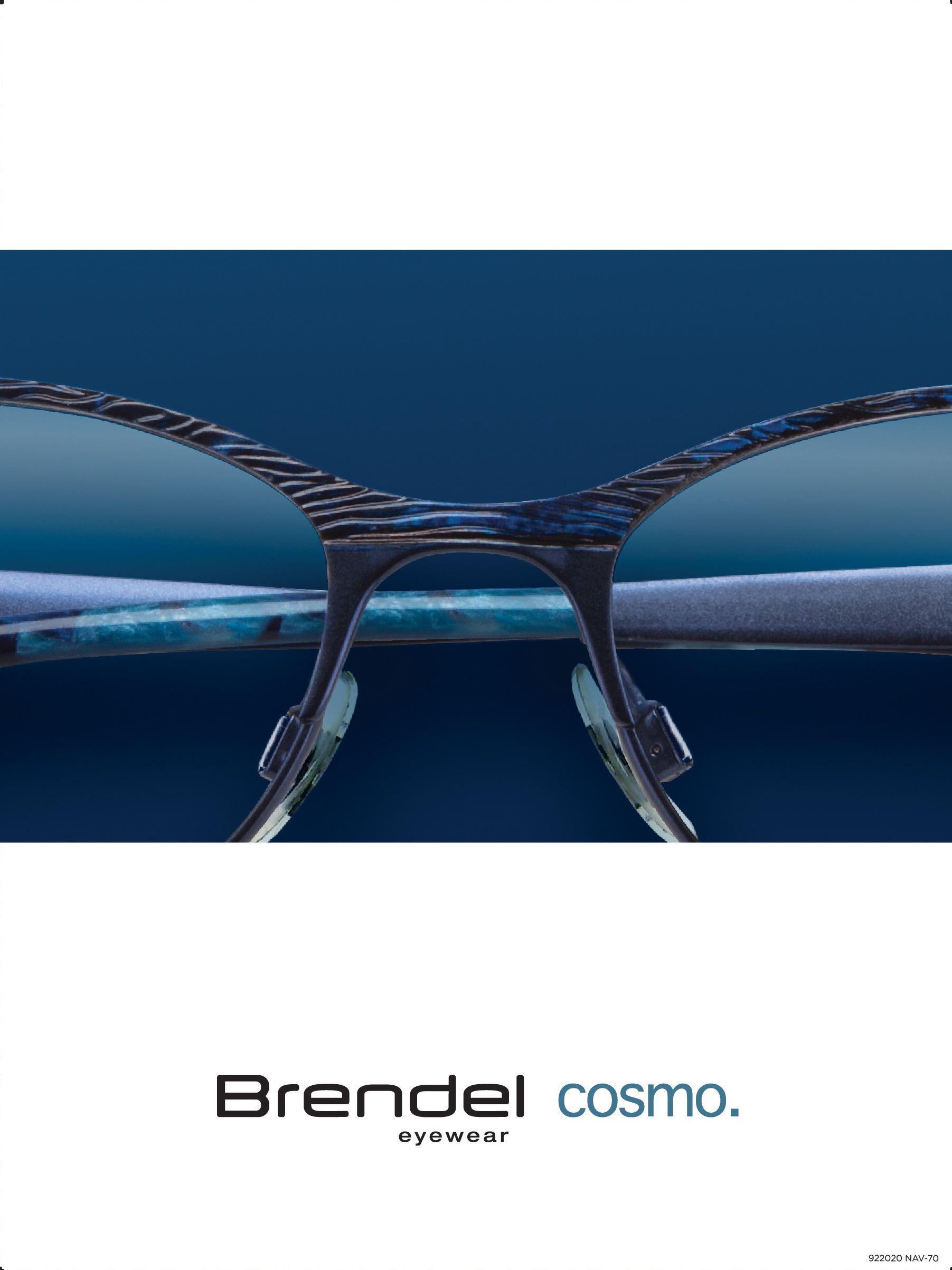 Brendel Cosmo Collection 922020 Navy Eyewear Optical Frames Cosmos