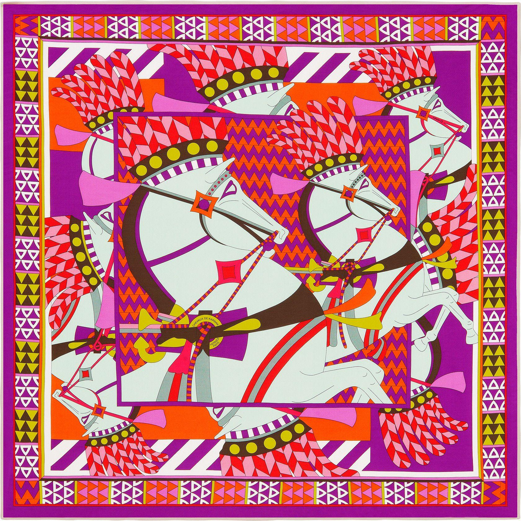 Scarf 90 Hermès | Chevaux de Karnac