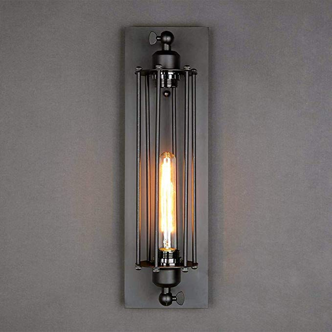 Lnc Industrial Wall Sconce Lighting Vintage Wire Cage Steampunk