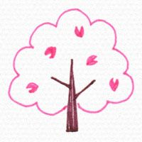 桜の木の描き方 かわいいイラスト 木イラスト 桜の木 イラスト