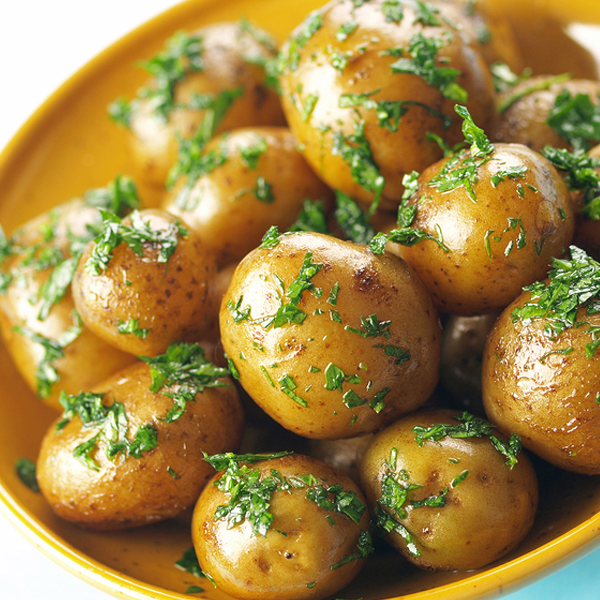 Roasted Baby Potatoes With Herbs Recipe From Grandmother S Kitchen Baby Potato Recipes Herb Recipes Baby Food Recipes