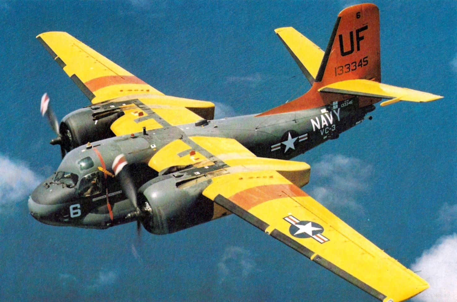 US-2F Tracker VC-3 in flight