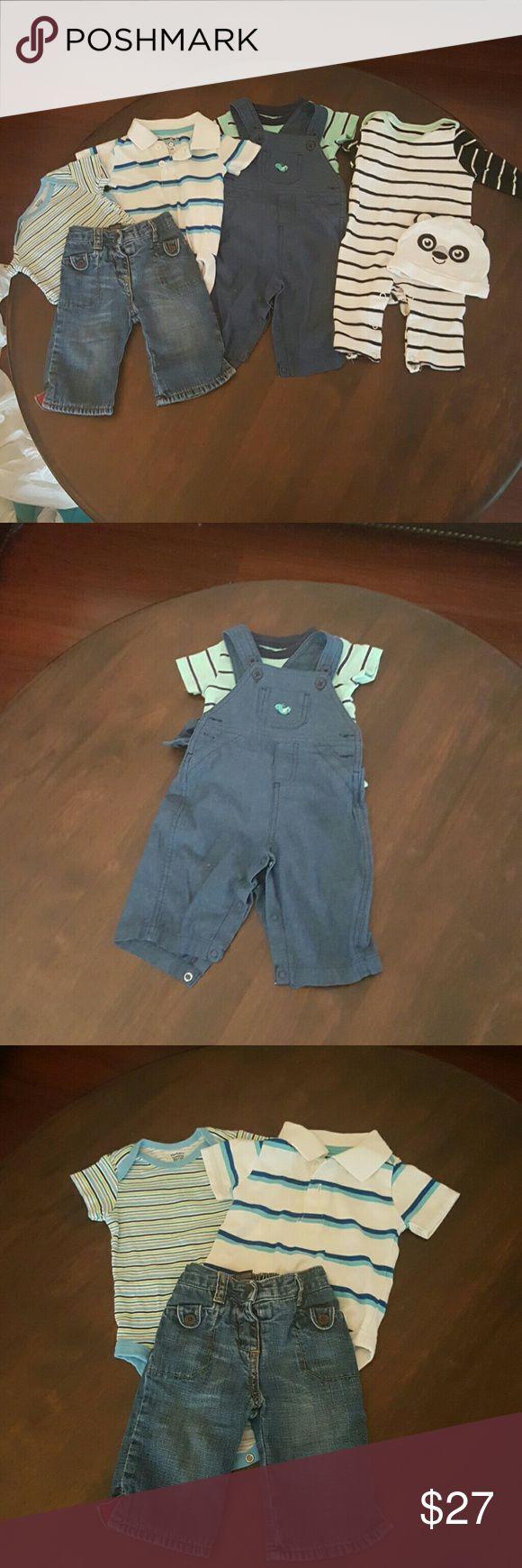 nice Tendance salopette 2017 - Baby boy bundle 3-6 months  (#5) Child of mine overalls and shirt, garanimal col...