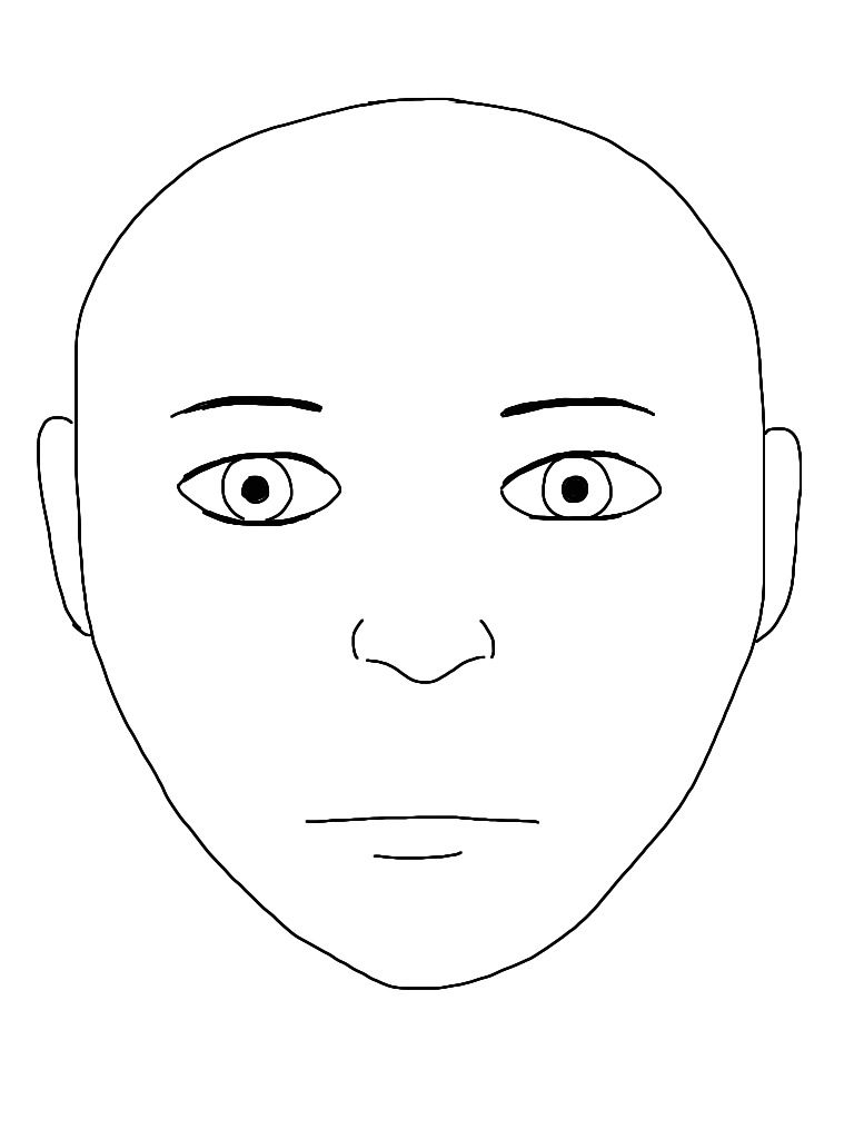 Effortless image with human face template printable