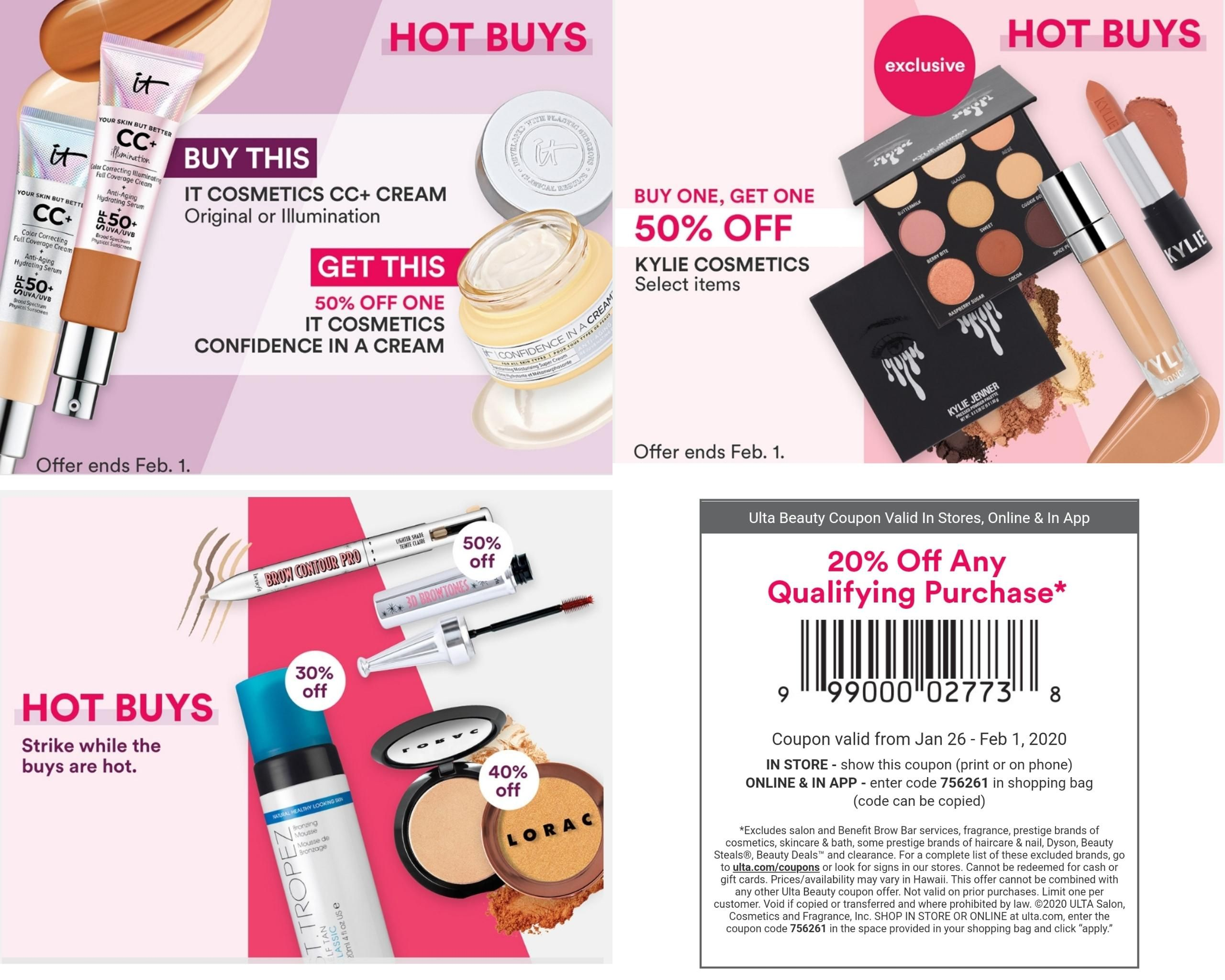 Ulta New Hot Buys And Universal 20 Off Non Prestige Coupon Muaonthecheap In 2020 Ulta Confidence In A Cream Stuff To Buy