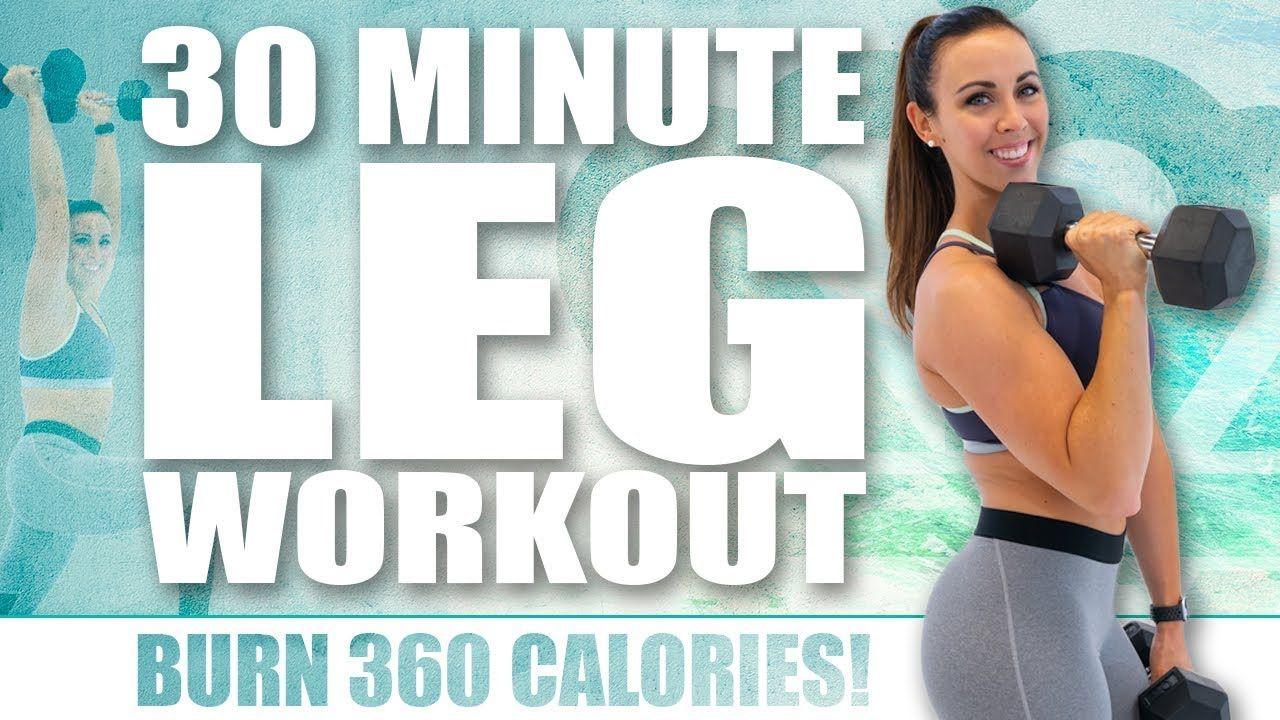 30 Minute Leg Workout Gÿ Burn 360 Calories Gÿ With Sydney Cummings Youtube Leg Workout Workout Lower Body Workout