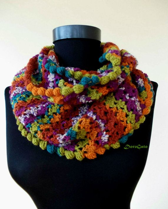 I present to you this multicolor and interesting infinity scarf. I ...