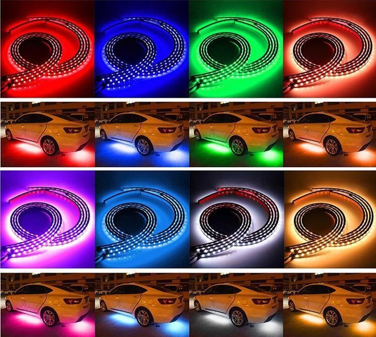 8 Colors RGB LED Strips Under Car Underglow Underbody