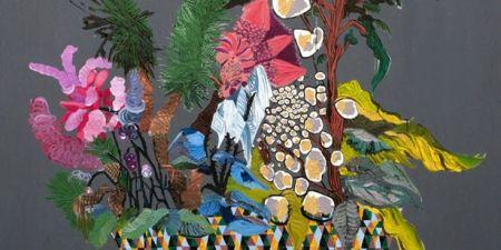 Anne Sofie Meldgaard: Tropical 2012 (udsnit). Olie på lærred, 140x160cm. Foto: Jens Thegler