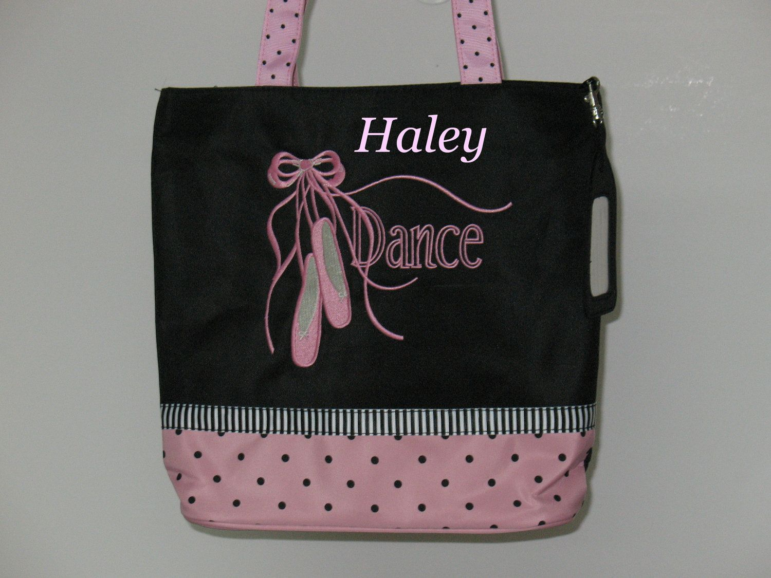 Personalized Gymnastics Gymnast Girls Toddler Dance Tote Bag