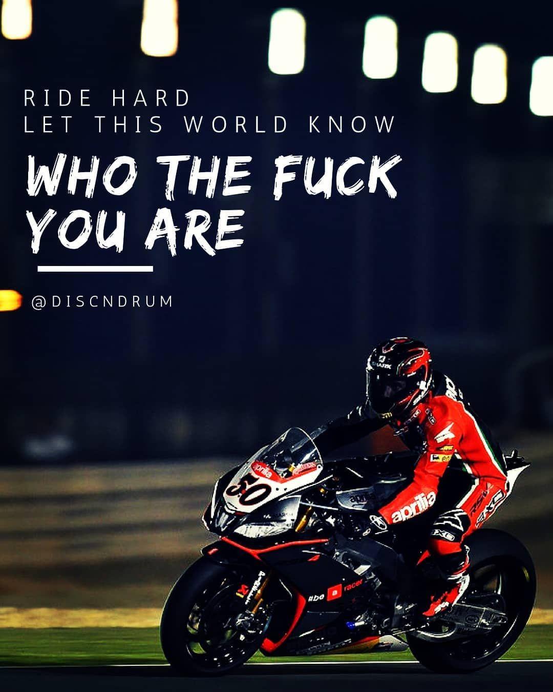 Yeah Discndrum Ride Racer Bike Superbike Quote