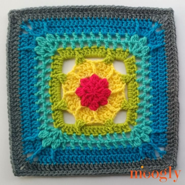 Block #6 in the Moogly Afghan Crochet Along for 2017 - courtesy of ...
