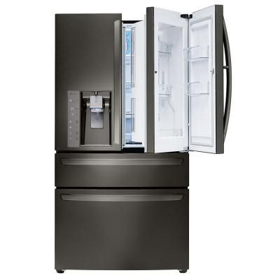 Lg Electronics 30 Cu Ft French Door Refrigerator With In Black Stainless Steel Lmxs30776d The Home Depot Lglimitlessdesign Contest