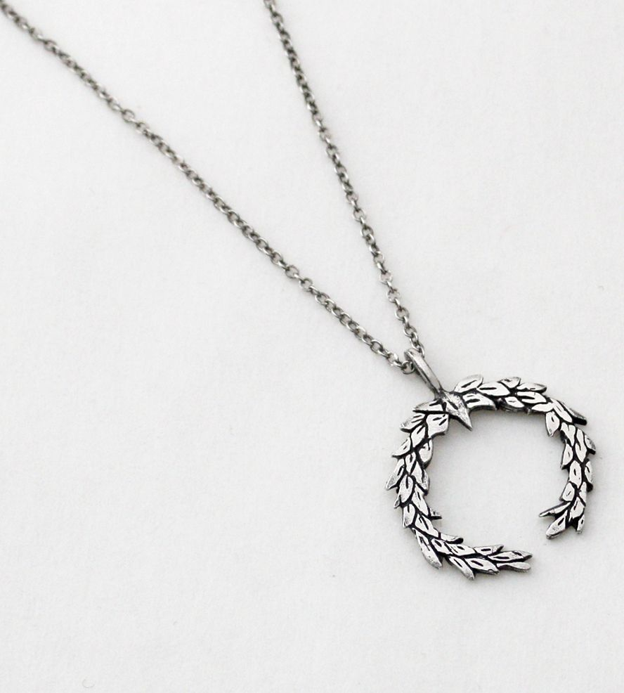 laurel silver wreath necklace bejeweled pinterest