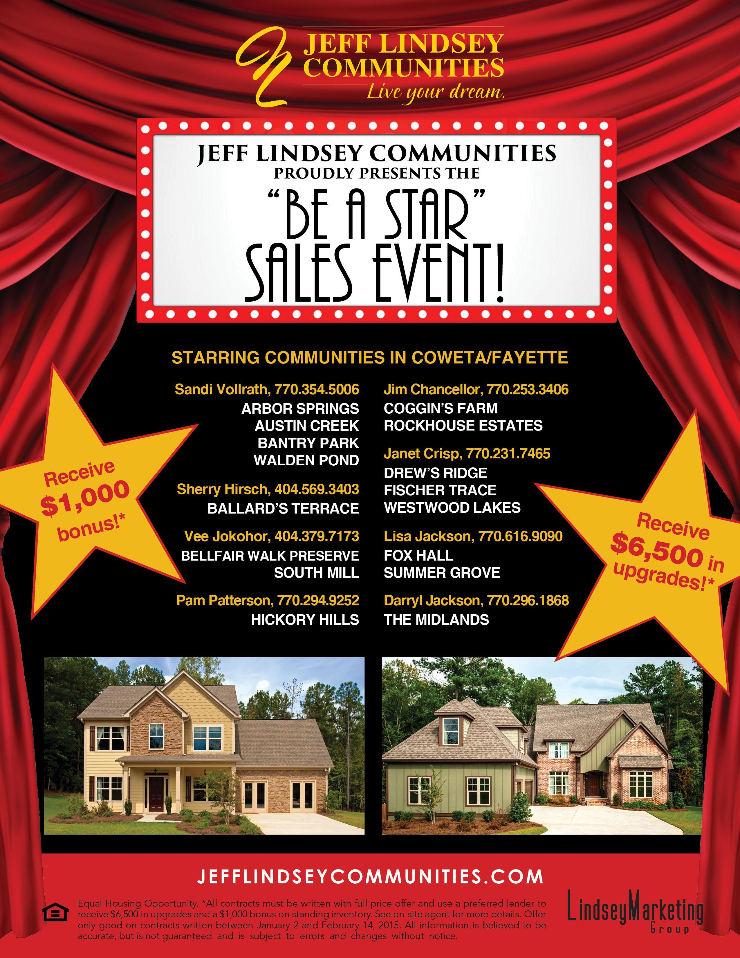 Jeff Lindsey Community Flyer Real Estates Design Bear Design Flyer
