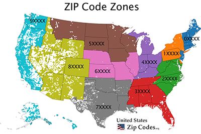 U S Zip Codes Free Zip Code Map And Zip Code Lookup Zip Code