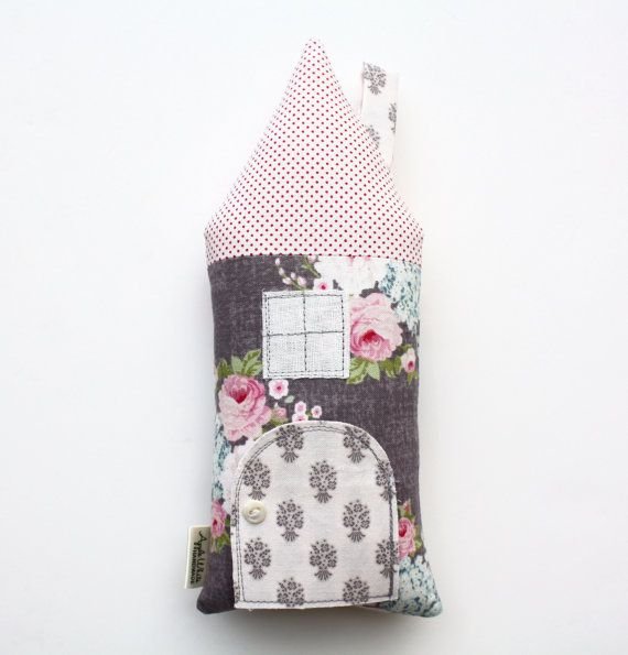 Toy House Pillow Tooth Fairy Cottage Stuffed Toy by AppleWhite