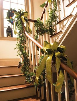Christmas Garland Ideas christmas garland ideas staircase - | christmas decorating