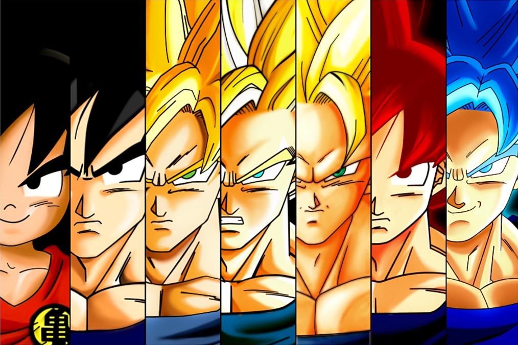 Super Saiyan Goku Transformation Evolution Poster 18x24 Ssid2016 Goku Transformations Goku Super Saiyan Goku
