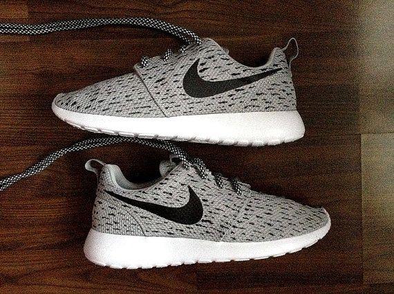 Nike Roshe Womens Grey with Custom Yeezy 350 Boost by DenisCustoms. Nike  Shoe StoreShoe ...