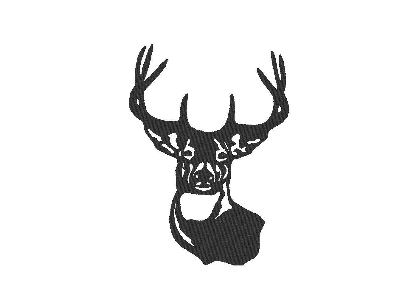 Deer Embroidery Machine Design by OCDEmbroidery on Etsy