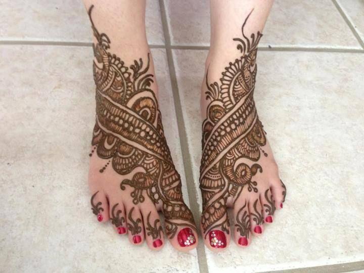 Bridal Mehndi : All in one bridal mehndi designs for feet