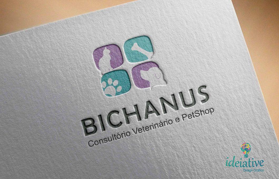 Logo Para Clinica Veterinaria E Petshop Bichanu S Estetica Canina