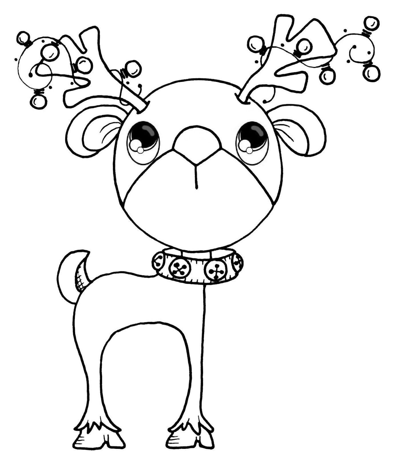 reno, navidad   Pinta y colorea   Pinterest   Navidad, Dibujo y ...